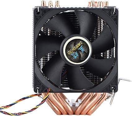 4Pin 6 Heatpipes Ventilateurs de Processeur Ventilateurs de