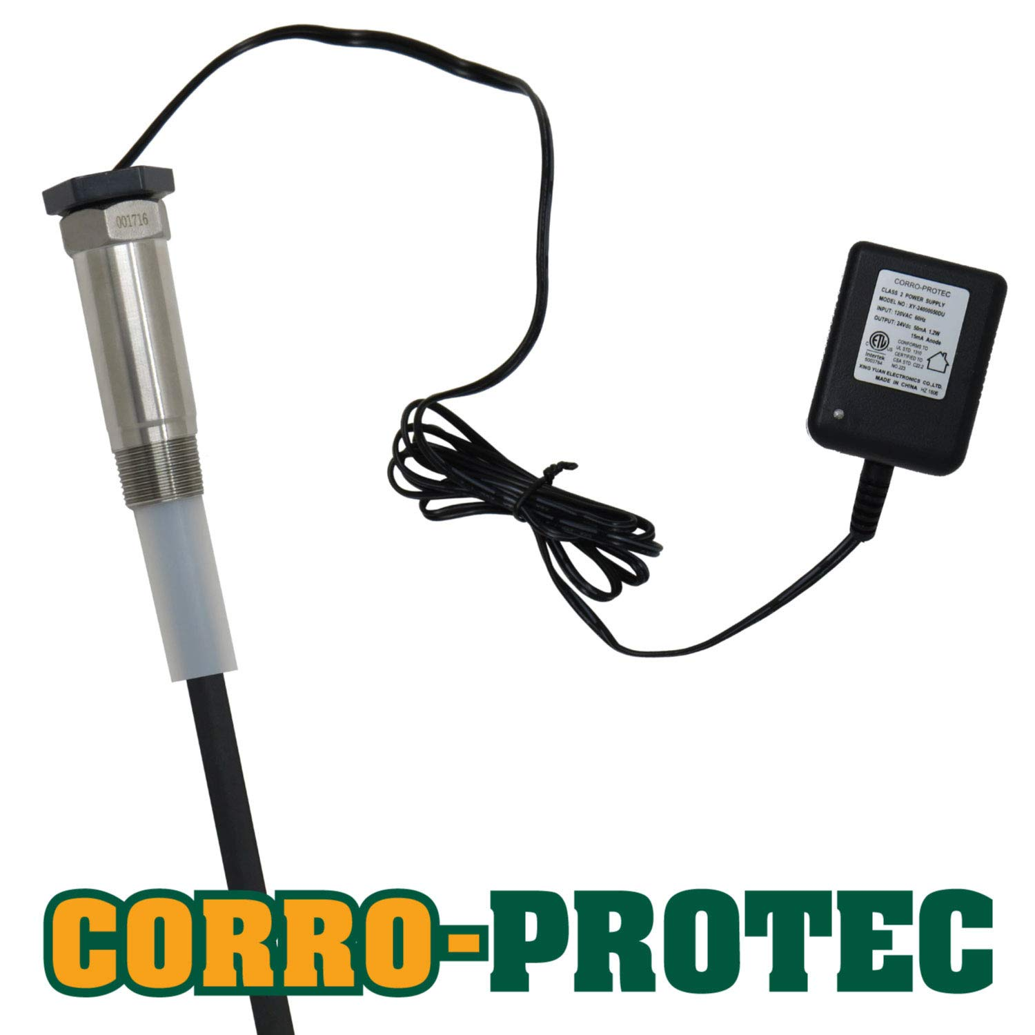 Corro-Protec CP-R Water Heater Powered Titanium Anode Rod (40-80 Gallon Tank) - Eliminate Odor (Sulfur/rotten egg smell), Corrosion and Reduce Limescale
