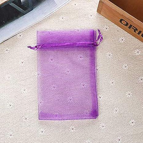 SUNXIN 100X Bolsa Organza 9x7cm para envolver Regalo Detalle de Boda Rosa roja
