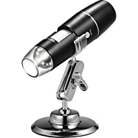 Handheld USB Digital Microscope with Metal Stand, Portable HD 1000 X Magnification Inspection Camera with 8 LED Light…