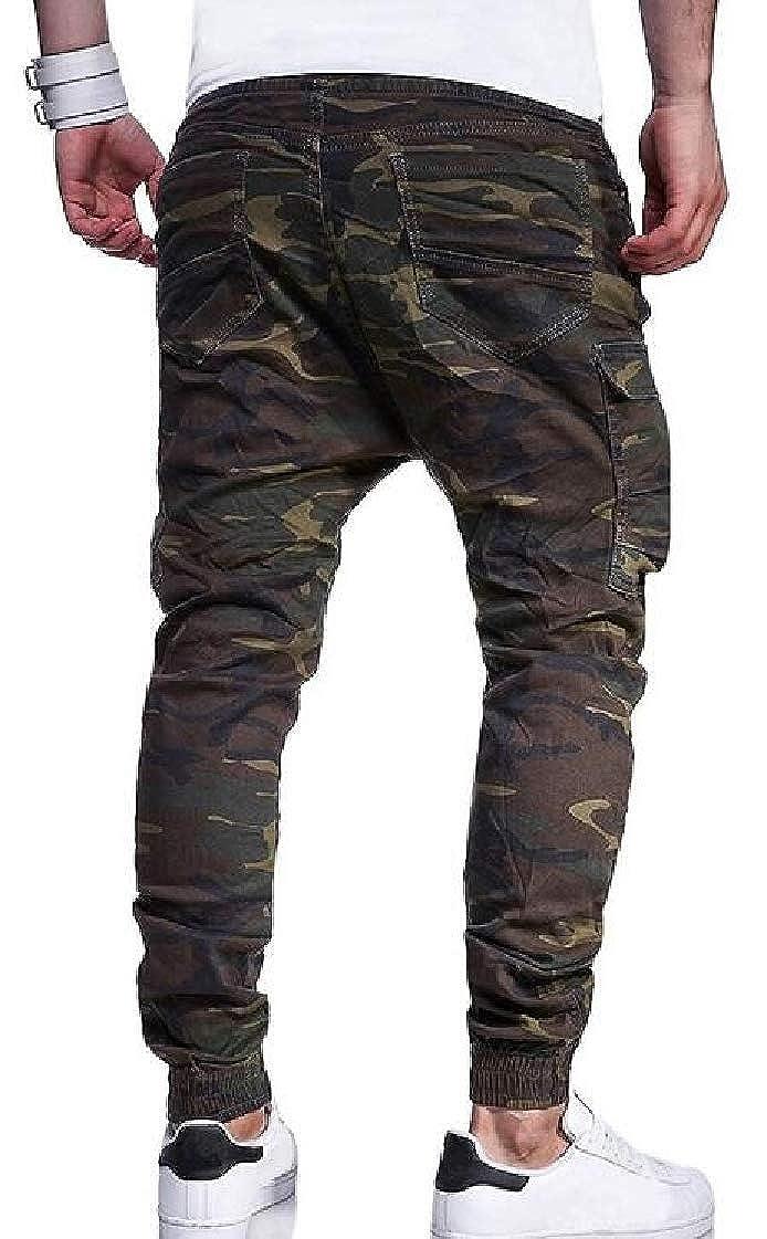 M/&S/&W Mens Big-Tall Camo Drawstring Casual Patterns Jogger Pants