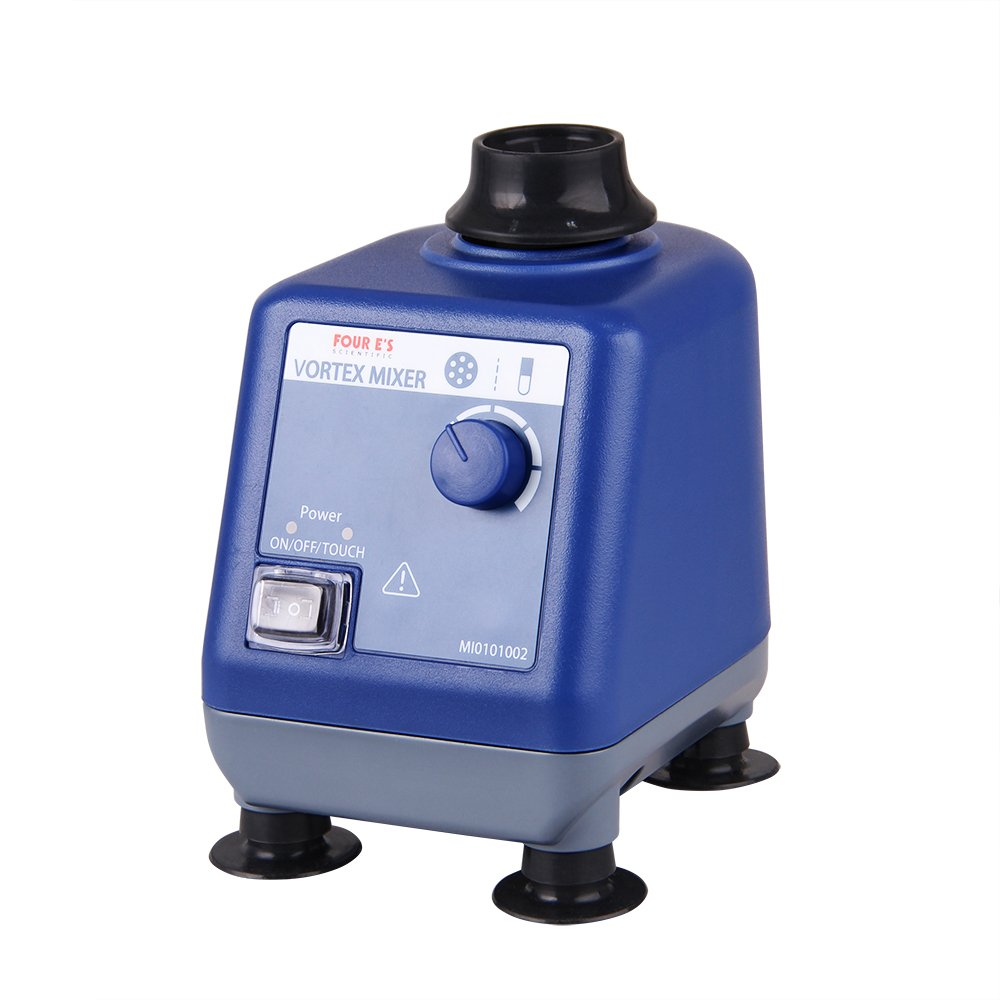 Four E's Scientific Laboratory Vortex Mixer Speed 0-3000rpm, Orbital Diameter 6mm, 50/60Hz, Touch and Continuous Modes, Mix 50ml containers Within 3 Seconds - Benchtop for Clinic Classroom Lab by FOUR E'S SCIENTIFIC (Image #4)
