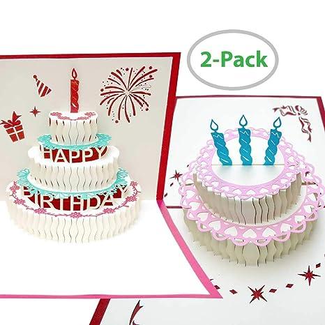 Amazon.com: Tarjeta de felicitación de cumpleaños Pop Up ...