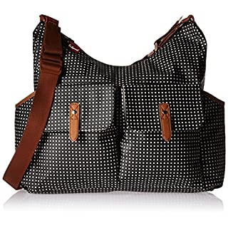 Babymel Frankie Shoulder Bag Diaper Bag, Pixel Dot Black