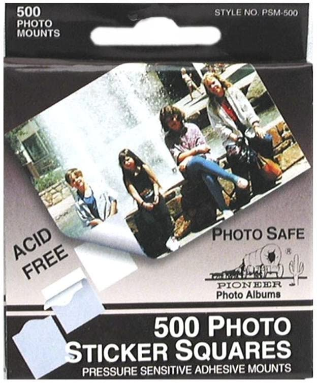 Pioneer PSM-2 Photo Squares Self-Adhesive 1//2-Inch White 250-Pack