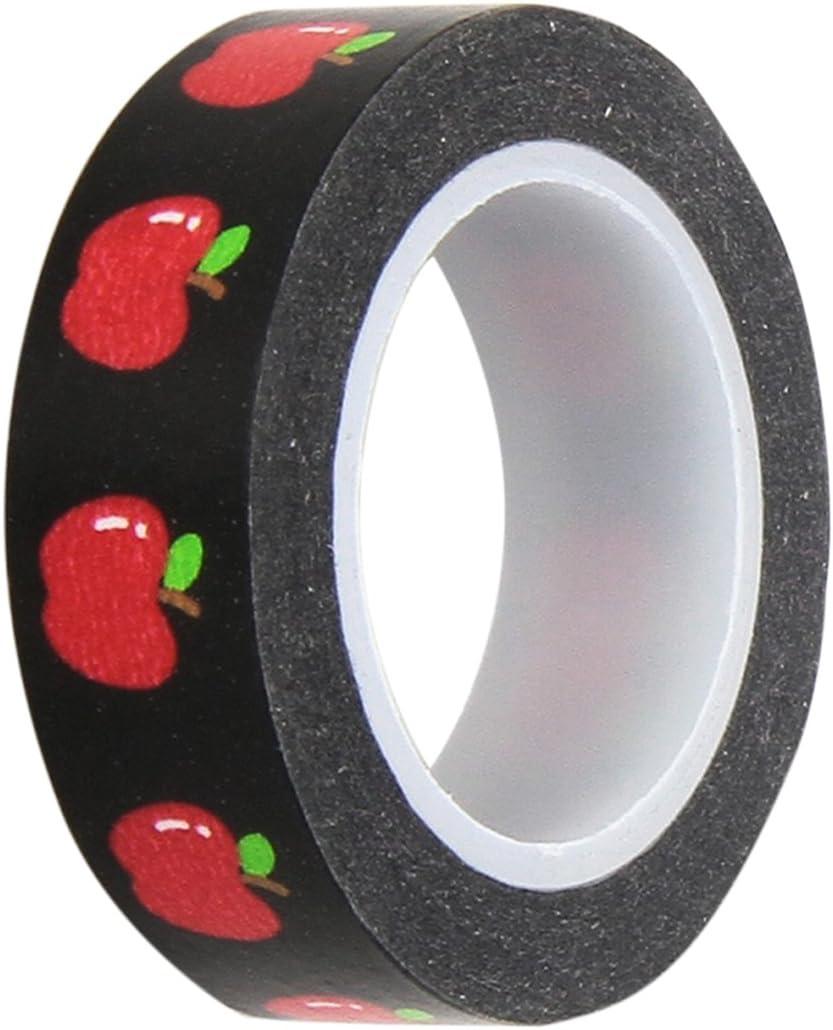 DOODLEBUG Apple A Day School Washi Tape, 8mm/12 Yards