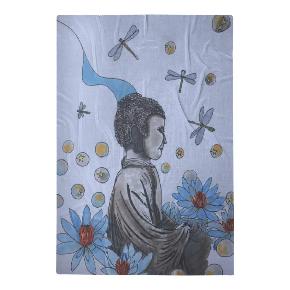 VIDA Stillness Oversized Merino Wool Scarf | Original Artwork Designed by Mary Ann Burrows by VIDA