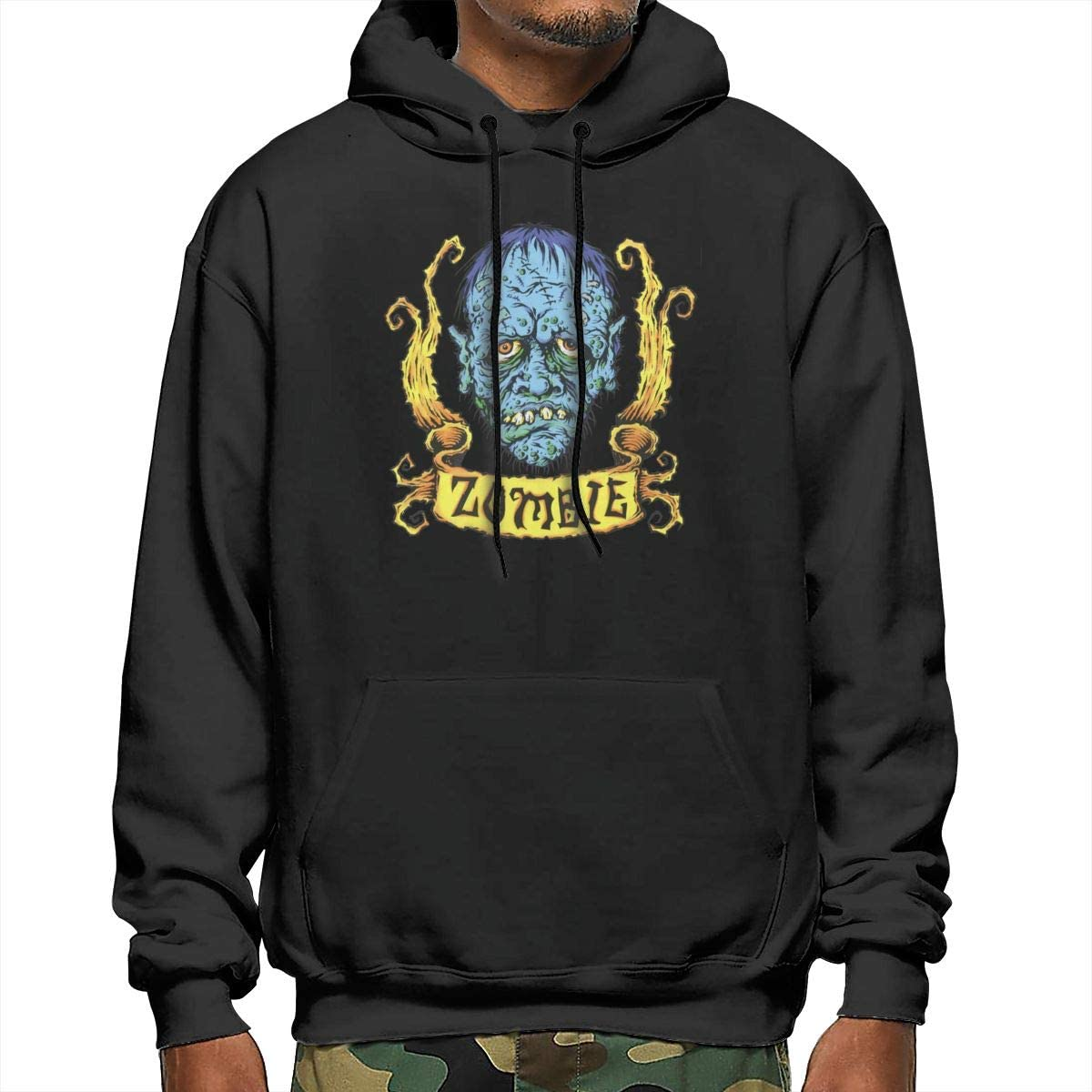 NathalieRSalmeron Rob Zombie Mens Pullover,Casual Long Sleeve Outwear