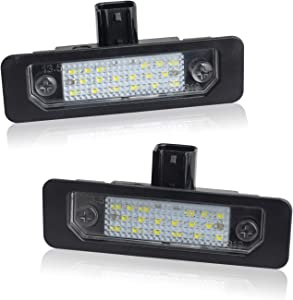 RUXIFEY LED License Plate Light Lamps Compatible with 2009 to 2018 Ford Flex, 2008 to 2011 Focus, 2006 to 2012 Fusion, 6000K White - Pack of 2