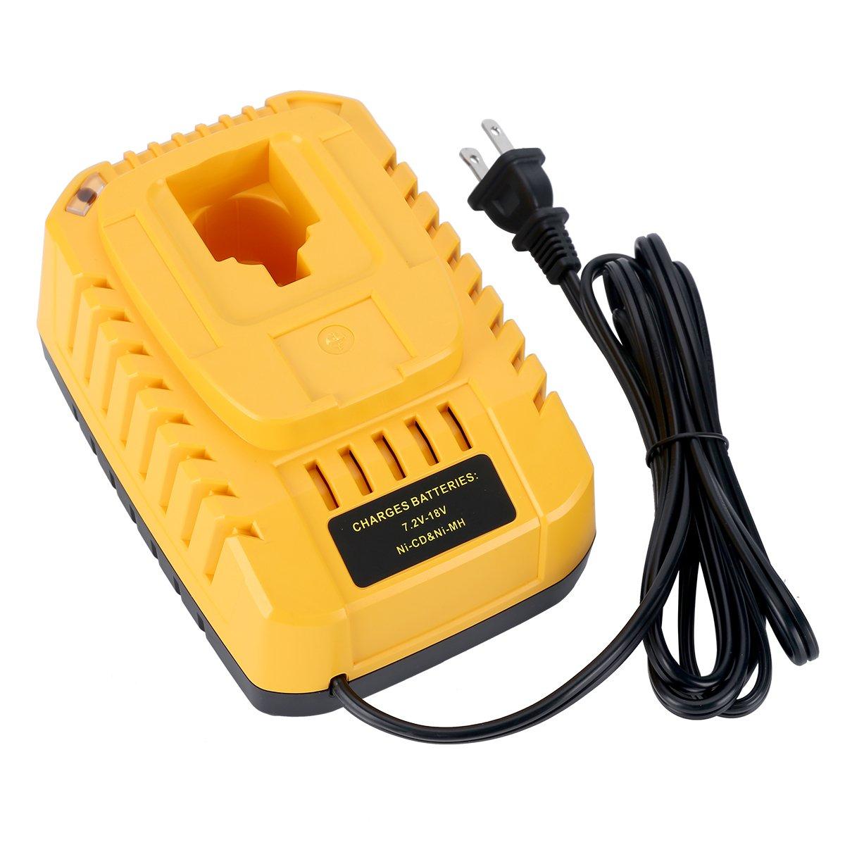 Lasica DC9310 Fast Battery Charger for Dewalt 7.2V-18V XRP NI-CD NI-MH Battery DC9096 DC9098 DC9099 DC9091 DC9071 DE9057 DW9096 DW9094 DW9072
