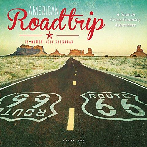 Graphique 2018 American Road Trip Wall Calendar