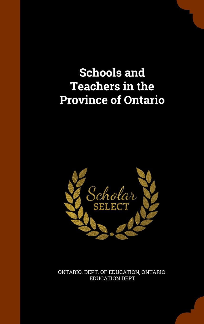 Schools and Teachers in the Province of Ontario pdf