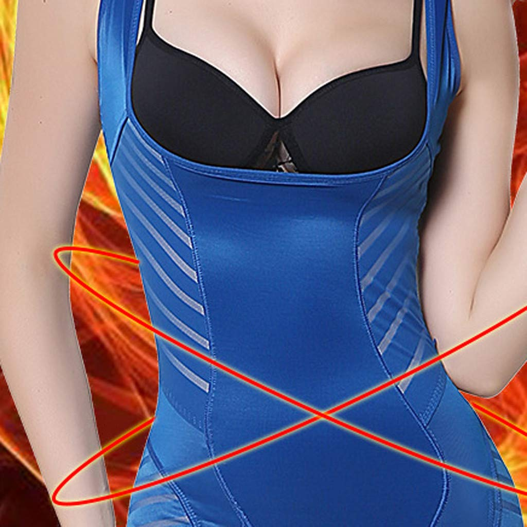 Womola Women Warm Vest Underwear Body Beauty Horse Stripe Waist Trainer Cincher Corset