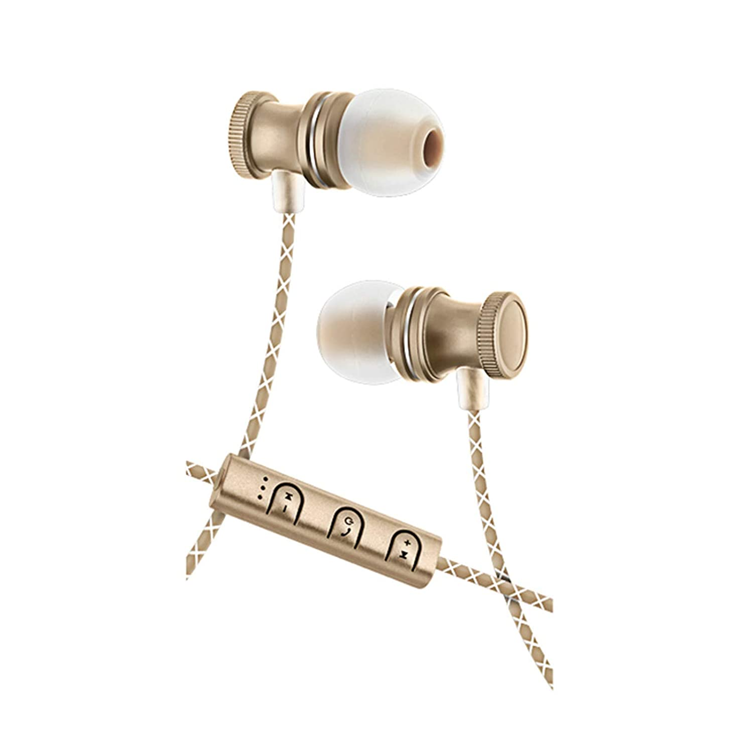 Bluetooth Wireless Stereo Earbuds with Mic - Gold