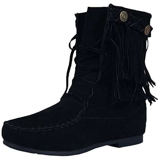 Tassel Lace-up Ankle Boots By BIGTREE Women Fashion Breathable Comfortable Casual Short Boots