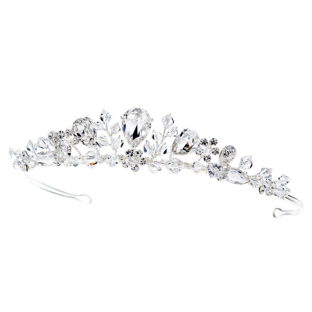 Rodeo Couture Bridal Swarovski Silver Bridal Tiara, Crystal Tiaras, Crystal Headpieces, Bridal Headpieces, Bridal Tiaras, Wedding Headpieces, Wedding Tiaras, Prom Tiaras