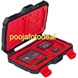 24 Slots Memory Card Case,Sd Card Holder,Water-Resistant&Shockproof Holder Storage Memory Card Case for CF cards/MicroSD cards/SD card(Red)