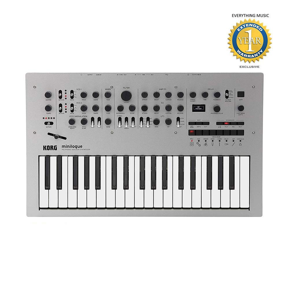 Korg Minilogue 4-Voice Polyphonic Analog Synthesizer with Free 1 Year EverythingMusic Extended Warranty by Korg