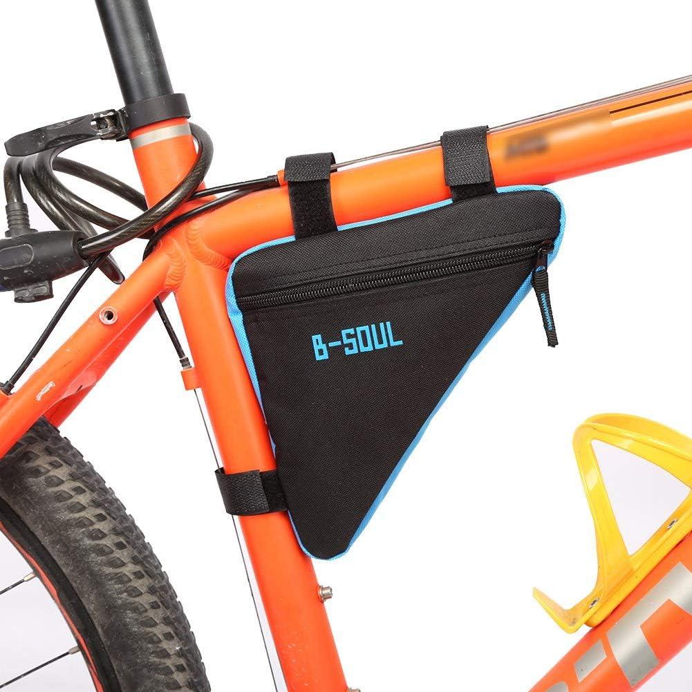 Tri/ángulo de bicicleta Bolsa impermeable MTB Mountain Road Bicicleta Marco de la bicicleta Bolsa de tubo frontal Oxford Quick Release Bicicleta delantera Triciclo Bike Top Tube Triangle Tool Bag