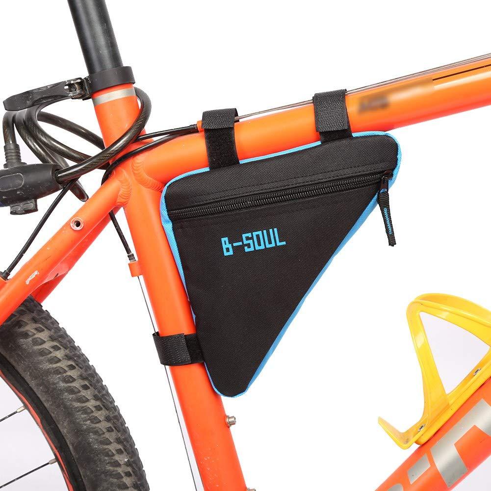 Bolsa de sill/ín de Bicicleta Oxford Al Aire Libre Lanzamiento r/ápido Deporte Bicicleta Bolsa de Almacenamiento Tubo Superior Bolsa de Herramientas