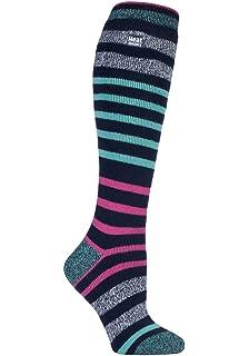 Ladies 1 Pair Heat Holders 1.6 TOG Lite Striped Knee High Socks
