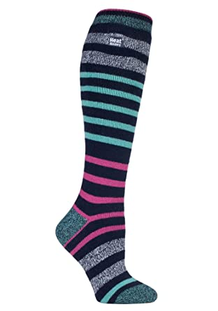 8821ae527d66 Heat Holders Lite - Ladies Thin Extra Long Knee High 1.6 TOG Patterned Winter  Warm Thermal Socks (4-8 uk, Broughton): Amazon.co.uk: Clothing