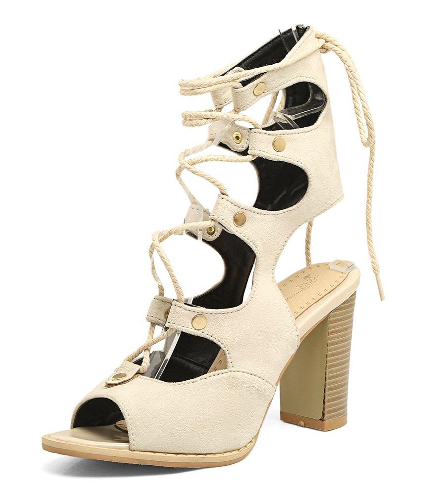 Easemax Femme Mode Femme Peep Toe Talon Sandales Haut Sandales 19997 Beige 91f3ca6 - conorscully.space
