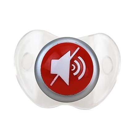 Amazon.com: Bigmouth Inc botón de silencio Chupete: Toys & Games