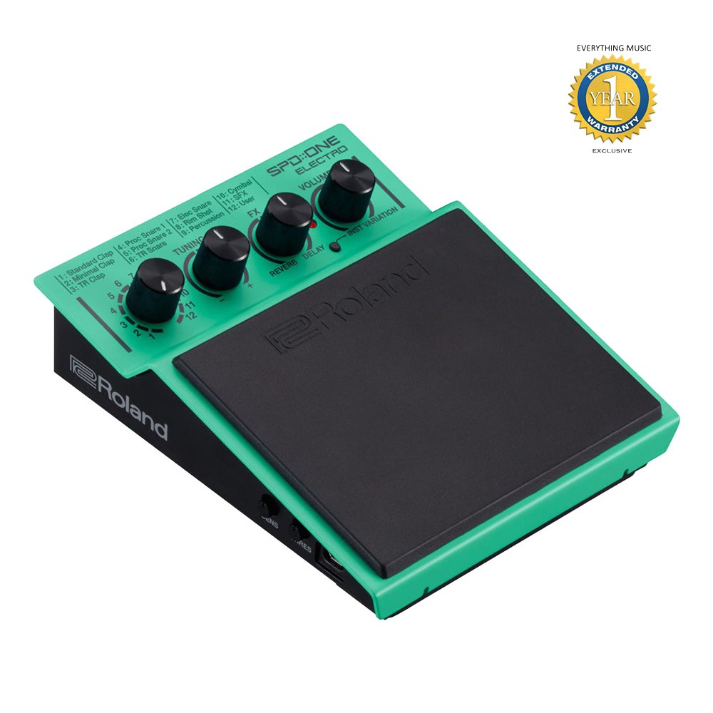 Roland SPD::ONE ELECTRO Digital Percussion Pad with 1 Year EverythingMusic Extended Warranty Free
