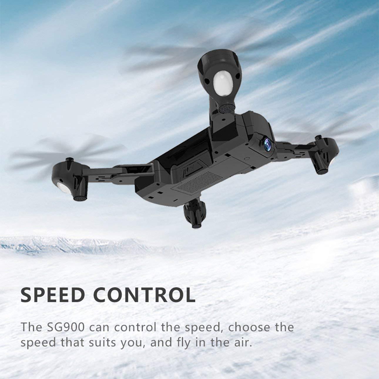 Ballylelly Drone con c/ámara SG900 Quadcopter Plegable 720P Drone WiFi Drones GPS Posicionamiento de Flujo /óptico 3.7V 1100mAh bater/ía