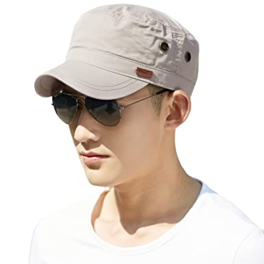 Siggi Unisex Mens Cotton Army Caps Military Hats Baseball Sun Hat Trucker  Cadet Combat Cap for 38b50812bf5