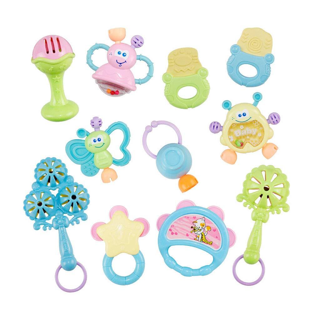 Baby-Rassel Bei/ßring Baby-Spielzeug-Set Hand Shaker Grab-Rattle-Musik-Spielzeug-Weihnachtsgeschenk f/ür Neugeborenes Baby und Kleinkind Dentitionspielzeug 1Set
