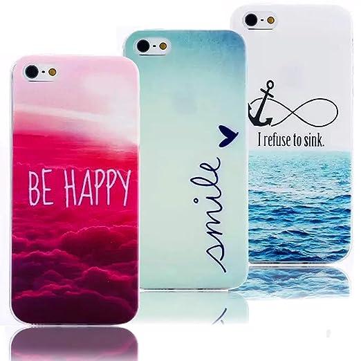 17 opinioni per 3cover per telefono, in TPU e silicone, con Design Colorato, motivo;