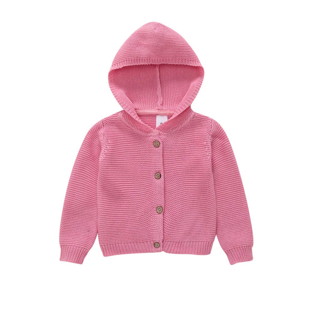Lurryly❤Girls Boys Kids Winter Warm Coat Jacket Knitted Hoodies Tops Outerwear Clothes 0-3T