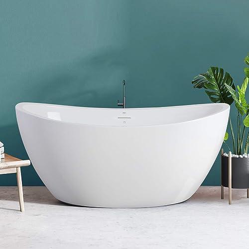 FerdY Naha 59″ Acrylic Freestanding Bathtub