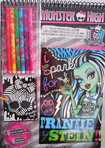 Monster High Velvet Poster Collection - Frankie Stein - 6 Posters - 6 Markers