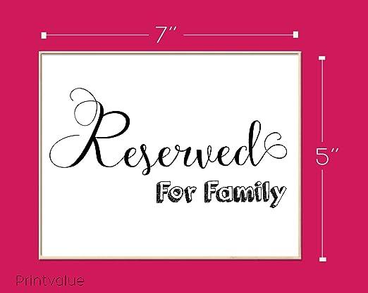 Reservado para tarjetas y regalos de la familia Signos de ...
