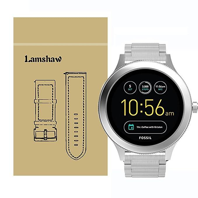 lamshaw Smartwatch banda para fósiles Q Venture, acero ...
