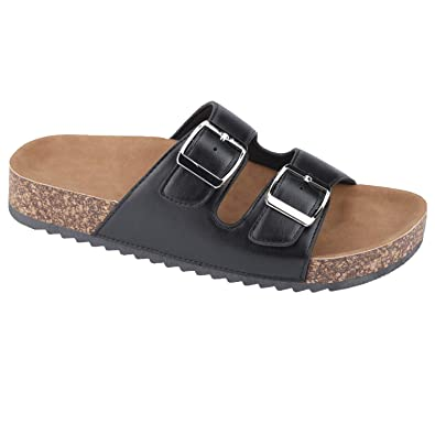 22317360b2c4 Women Casual Buckle Straps Sandals 06 US (Black-B)