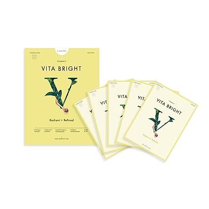 Rael Vita máscara de brillante con Vitamina C (5 hojas): máscara de antioxidantes