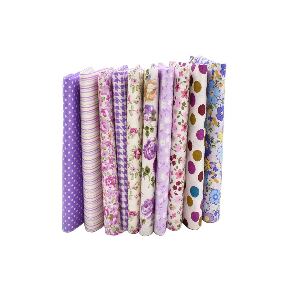 Raylinedo/® costura y manualidades para patchwork Tela de algod/ón estampado a cuadrados 20 x 20/cm 10 unidades