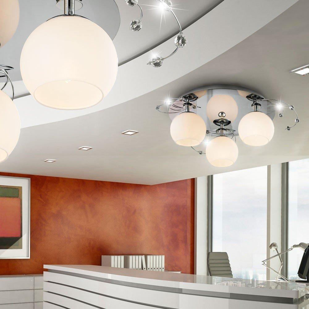 lampen wohnzimmer glas : Deckenleuchte Glas Deckenlampe Beleuchtung Wohnzimmer Lampe