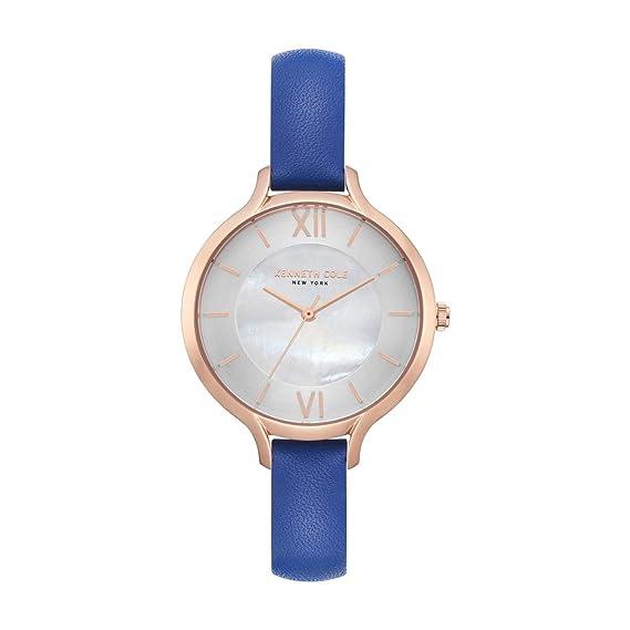Kenneth Cole Reloj Analógico para Mujer de Cuarzo con Correa en Cuero KC15187007