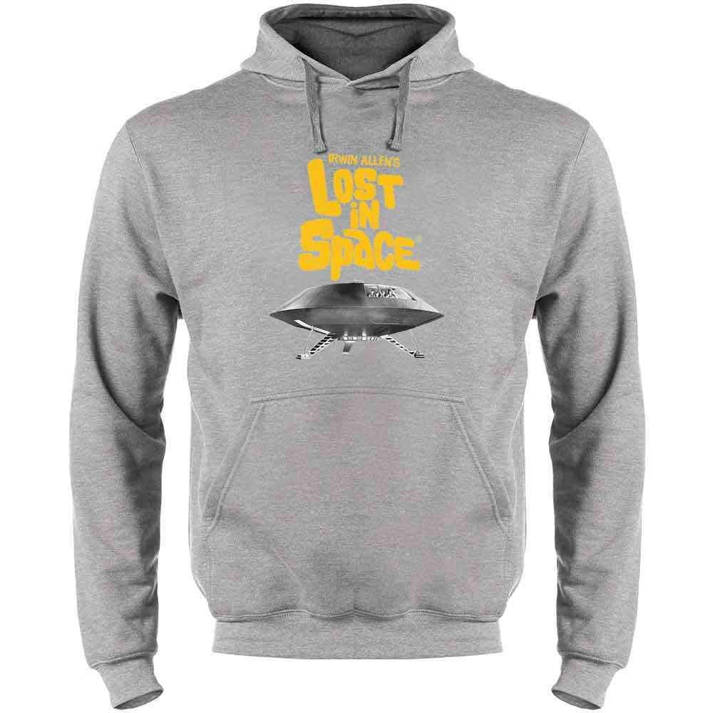 Lost in Space Topographical Logo Mens Fleece Hoodie Sweatshirt