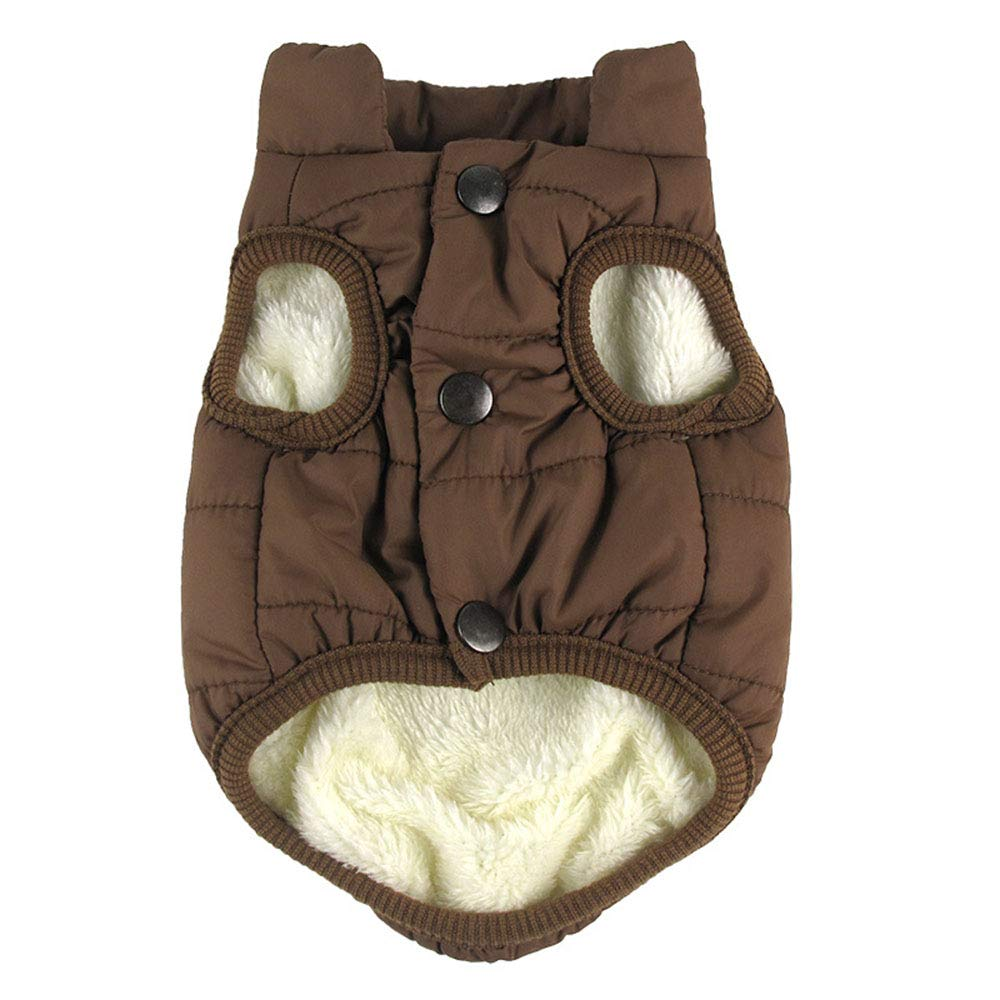 Coffee X-Large Coffee X-Large Pet Warm Jacket Autumn and Winter Lined Warm Dog Jacket for Puppy Winter Cold Weather Soft Windproof Small Dog Coat for Small Middle Large Size Dogs (color   Coffee, Size   XL)