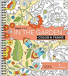 Amazon.com: Color & Frame Coloring Book - In the Garden ...