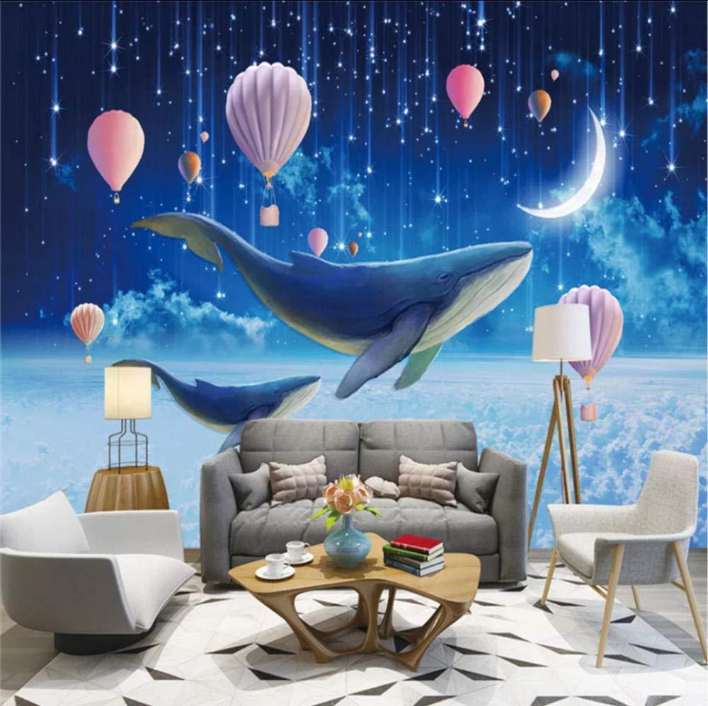 Amazon Com Sdefw Children S Room Wall Paper 3d Blue Fantasy