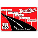 Burma Shave Tin Sign 12 x 8in