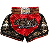 FLUORY Muay Thai Shorts, MMA Fight Shorts Ropa de Entrenamiento Jaula Lucha Grappling Artes Marciales Kickboxing Shorts…