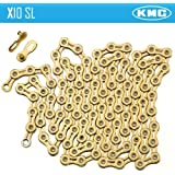 KMC X10SL Gold 10 Speed Chain for Shimano Sram